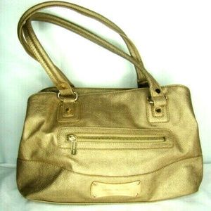 Dana Buchman Women's Satchel Purse Handbag Gold